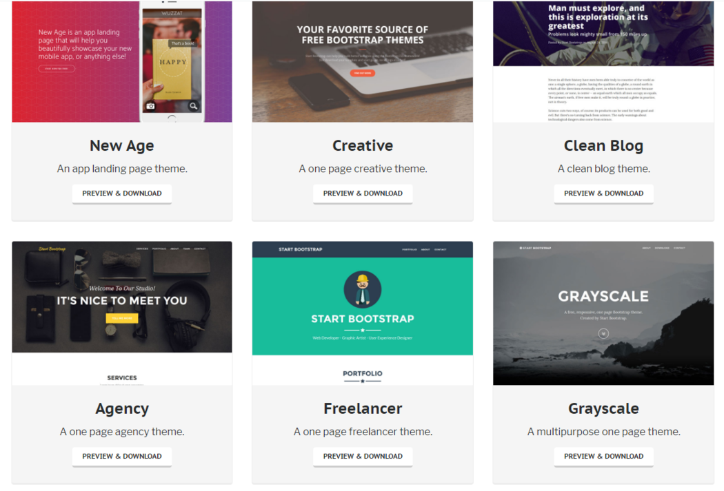 Bootstrap themes screenshot