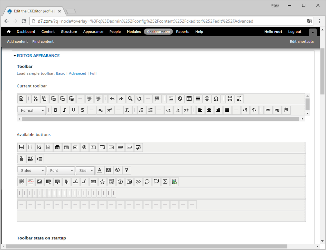 Editor Appearance screenshot