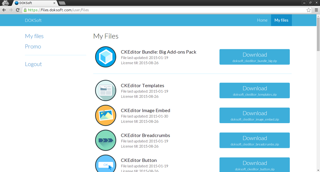 Installing Big Add-on Bundle for CKEditor download file screenshot