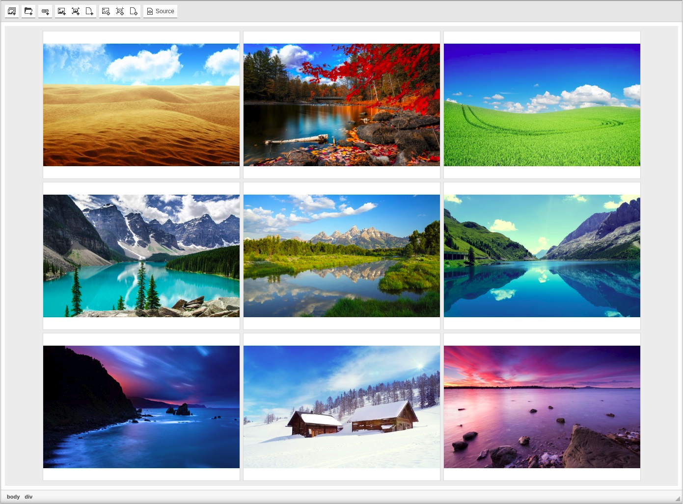 CKEditor Image Gallery minimalist style screenshot
