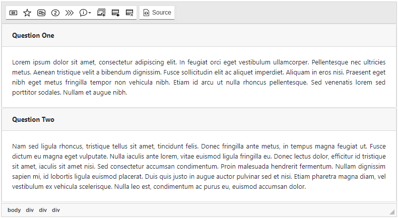 Bootstrap Accordion screenshot