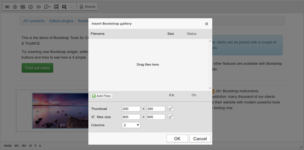 Bootstrap Gallery dialog screenshot