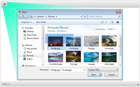 CKEditor Easy Image Uploader overview screenshot